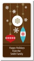 Retro Ornaments - Custom Rectangle Christmas Sticker/Labels