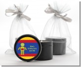 Robot Party - Birthday Party Black Candle Tin Favors