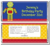Robot Party - Personalized Birthday Party Candy Bar Wrappers