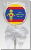 Robot Party - Personalized Birthday Party Lollipop Favors