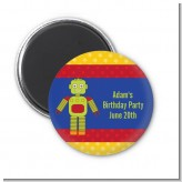 Robot Party - Personalized Birthday Party Magnet Favors