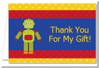 Robot Party - Birthday Party Thank You Cards