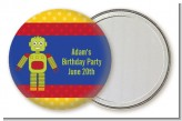Robot Party - Personalized Birthday Party Pocket Mirror Favors