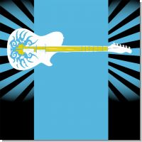 Rock Star Guitar Blue Birthday Party Theme