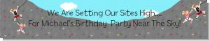 Rock Climbing - Personalized Birthday Party Banners
