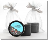 Rock Climbing - Birthday Party Black Candle Tin Favors