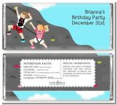 Rock Climbing - Personalized Birthday Party Candy Bar Wrappers