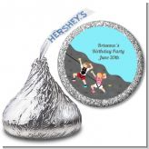 Rock Climbing - Hershey Kiss Birthday Party Sticker Labels