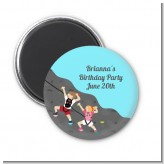 Rock Climbing - Personalized Birthday Party Magnet Favors