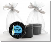 Rock Star Guitar Blue - Birthday Party Black Candle Tin Favors