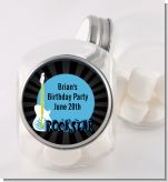 Rock Star Guitar Blue - Personalized Birthday Party Candy Jar