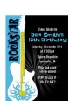 Rock Star Guitar Blue - Birthday Party Petite Invitations thumbnail