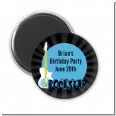Rock Star Guitar Blue - Personalized Birthday Party Magnet Favors