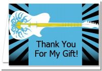 Rock Star Guitar Blue - Birthday Party Thank You Cards