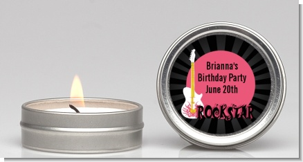 Rock Star Guitar Pink - Birthday Party Candle Favors