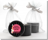 Rock Star Guitar Pink - Birthday Party Black Candle Tin Favors