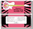 Rock Star Guitar Pink - Personalized Birthday Party Candy Bar Wrappers thumbnail