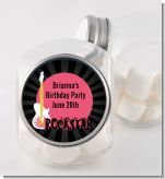 Rock Star Guitar Pink - Personalized Birthday Party Candy Jar