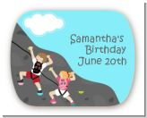 Rock Climbing - Personalized Birthday Party Rounded Corner Stickers
