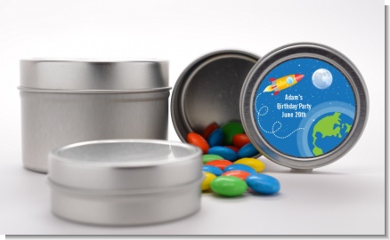 Rocket Ship - Custom Birthday Party Favor Tins