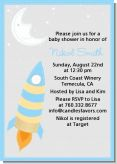 Rocket Ship - Baby Shower Invitations