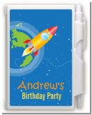 Rocket Ship - Birthday Party Personalized Notebook Favor