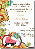 Roller Skating - Birthday Party Invitations