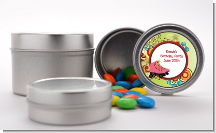 Roller Skating - Custom Birthday Party Favor Tins