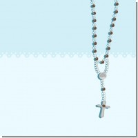 Rosary Beads Blue Baptism Theme