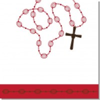 Rosary Beads Maroon Baptism Theme