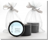 Rosary Beads Blue - Baptism / Christening Black Candle Tin Favors