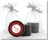Rosary Beads Maroon - Baptism / Christening Black Candle Tin Favors