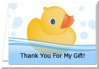 Rubber Ducky - Baby Shower Thank You Cards