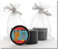 Rudolph the Reindeer - Christmas Black Candle Tin Favors