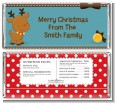 Rudolph the Reindeer - Personalized Christmas Candy Bar Wrappers thumbnail