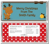 Rudolph the Reindeer - Personalized Christmas Candy Bar Wrappers