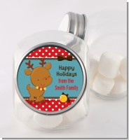 Rudolph the Reindeer - Personalized Christmas Candy Jar