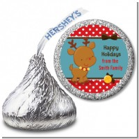 Rudolph the Reindeer - Hershey Kiss Christmas Sticker Labels