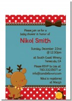 Rudolph the Reindeer - Christmas Petite Invitations