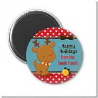 Rudolph the Reindeer - Personalized Christmas Magnet Favors
