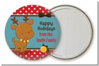 Rudolph the Reindeer - Personalized Christmas Pocket Mirror Favors