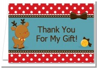 Rudolph the Reindeer - Christmas Thank You Cards