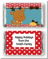 Rudolph the Reindeer - Personalized Christmas Mini Candy Bar Wrappers