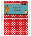 Rudolph the Reindeer - Personalized Popcorn Wrapper Christmas Favors thumbnail