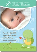 Turtle | Sagittarius Horoscope - Birth Announcement Photo Card