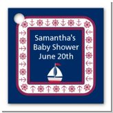 Sailboat Blue - Personalized Baby Shower Card Stock Favor Tags
