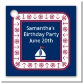Sailboat Blue - Personalized Birthday Party Card Stock Favor Tags