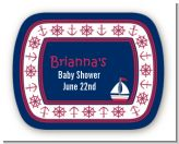 Sailboat Blue - Personalized Baby Shower Rounded Corner Stickers