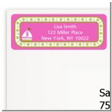 Sailboat Pink - Baby Shower Return Address Labels