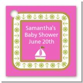 Sailboat Pink - Personalized Baby Shower Card Stock Favor Tags